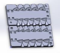 Форма для грузил чебурашка разборная Зубец 4-24гр