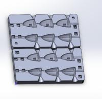 Форма для грузил чебурашка разборная Зубец 42-56гр