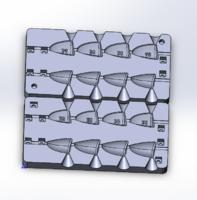 Форма для грузил чебурашка разборная Зубец 26-40гр