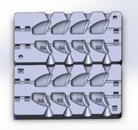 Форма для грузил чебурашка разборная Сапожок 46-60гр