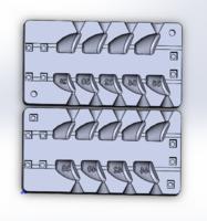 Форма для грузил чебурашка разборная Сапожок 28-44гр