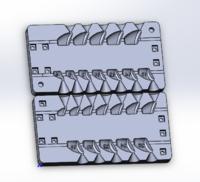 Форма для грузил чебурашка разборная Сапожок 4-26гр